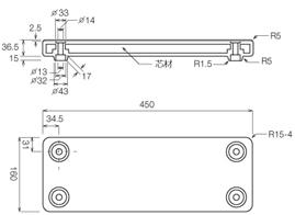 ブラカラー[ブランコ踏板]の仕様図