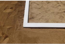 セフティガード砂場枠の施工例の画像